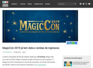 Vigília Nerd anuncia MagicCon 2019