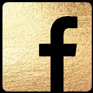 Logo do Facebook dourado