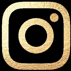 Logo do Instagram dourado
