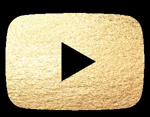 Logo do Youtube dourado