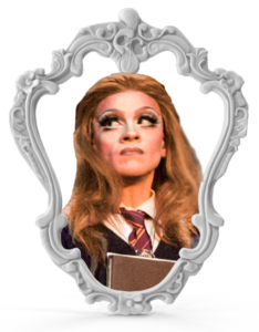 Foto da Lo Litta vestida de Hermione Granger