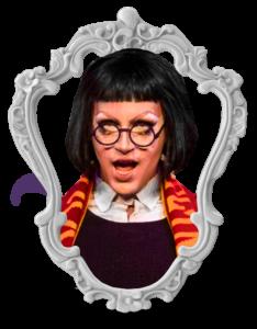 Foto da Rebeca Rebu vestida de Harry Potter